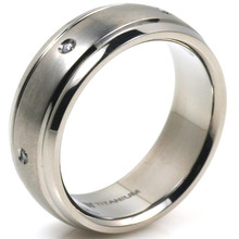 T-918 DIA - TATIAS, Titanium Ring set with Diamonds